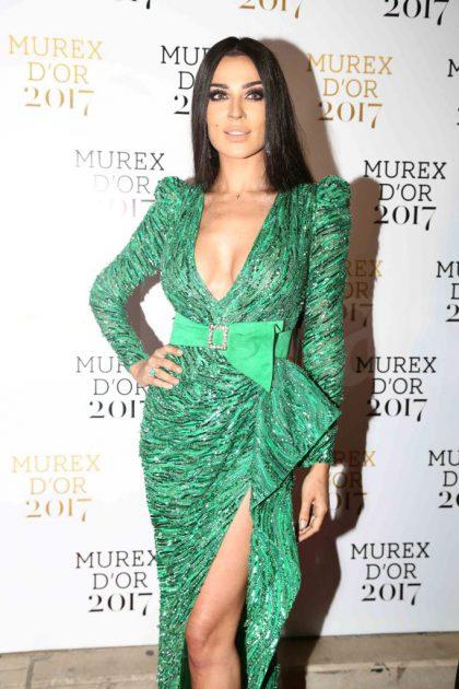 النجمة اللبنانية نادين نسيب نجيم في حفل توزيع جوائز الموريكس دور