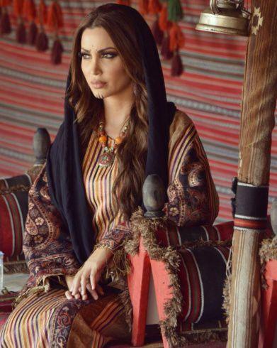 الممثلة السورية نسرين طافش بدوية في مسلسلها الجديد