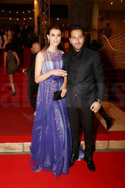 الإعلامي وسام بريدي وزوجته عارضة الأزياء التونسية ريم السعيدي