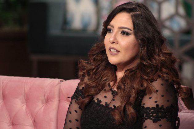 الممثلة المصرية مي كساب في لقطة من برنامج (معكم)
