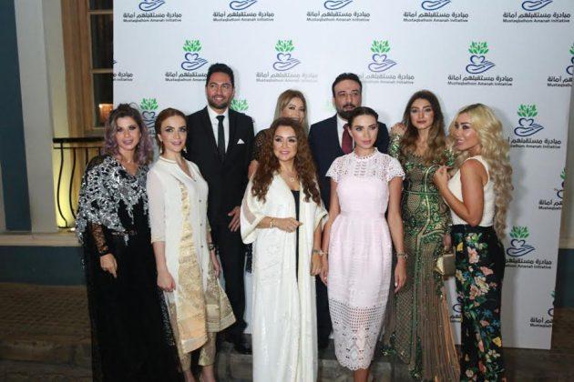 الدكتور أيمن البياع برفقة نورهان، ليليا الأطرش، داليدا خليل، روجينا، فادي حرب والزميلة مها سابق وغيرهم