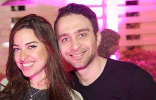 المطرب المصري حسام حبيب وملكة جمال مصر السابقة إلهام وجدي