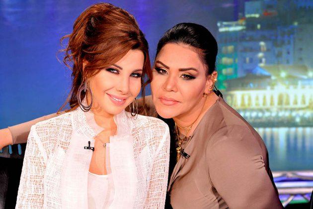 الإماراتية أحلام والنجمة اللبنانية نانسي عجرم في كواليس (آراب أيدول)