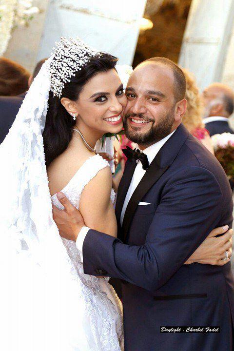 النجمة اللبنانية بريجيت ياغي وزوجها السيد رامي العقل
