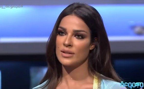 النجمة اللبنانية نادين نسيب نجيم عبر ال Mbc