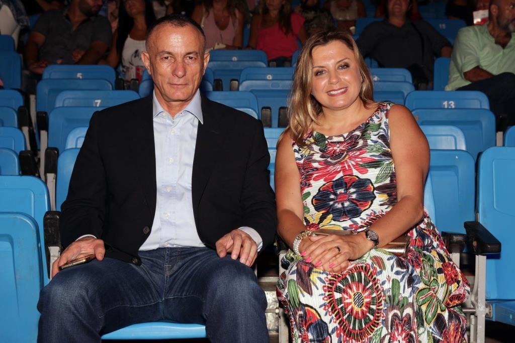العميد شامل روكز وزوجته ورئيسة الهيئة الوطنية لشؤون المرأة اللبنانية السيدة كلودين عون