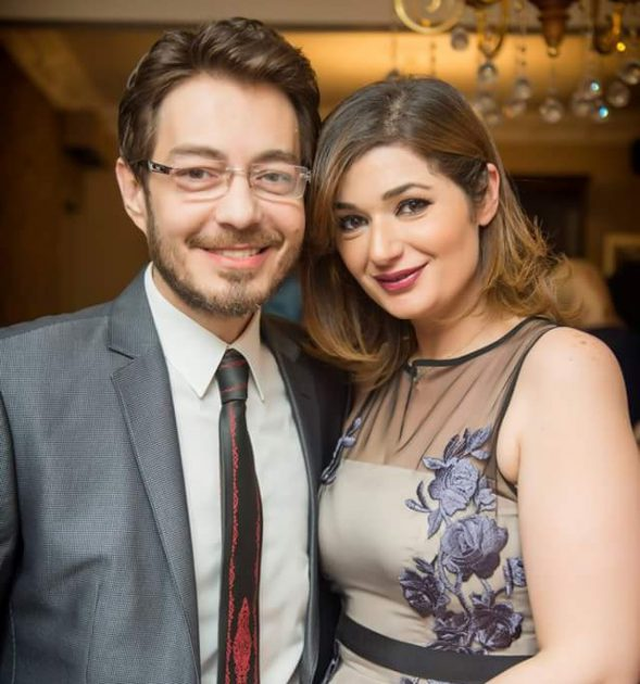 النجم المصري أحمد زاهر وزوجته هدى زاهر