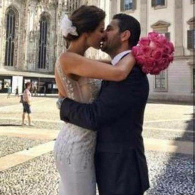 ريم السعيدي وقبلة رومانسية لوسام بريدي بعد زواجهما