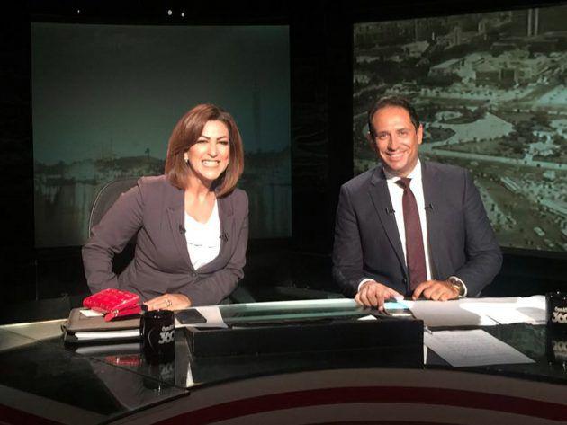 الإعلاميان أحمد سالم ودينا عبدالكريم