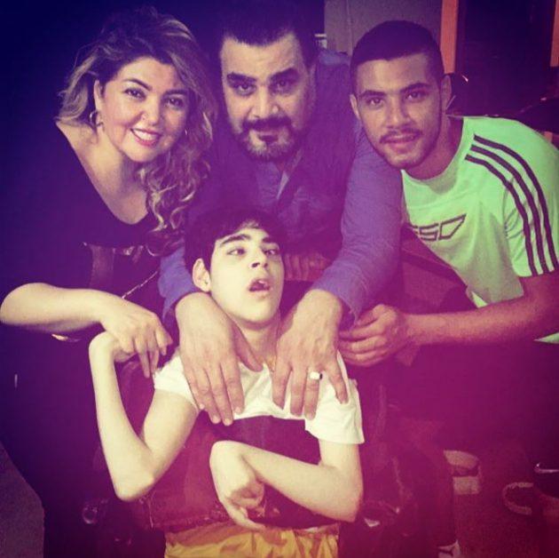 عائلة مها أحمد تحتفل بعيد ميلادها