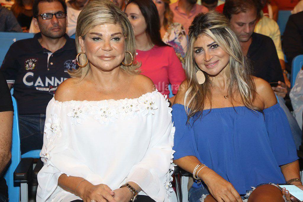 الاعلامية اللبنانية مي شدياق وشقيقتها ميشلين شدياق