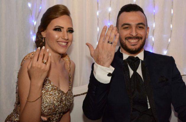 الإعلامي عامر طاهر وخطيبته الممثلة الشابة إيمي طلعت زكريا