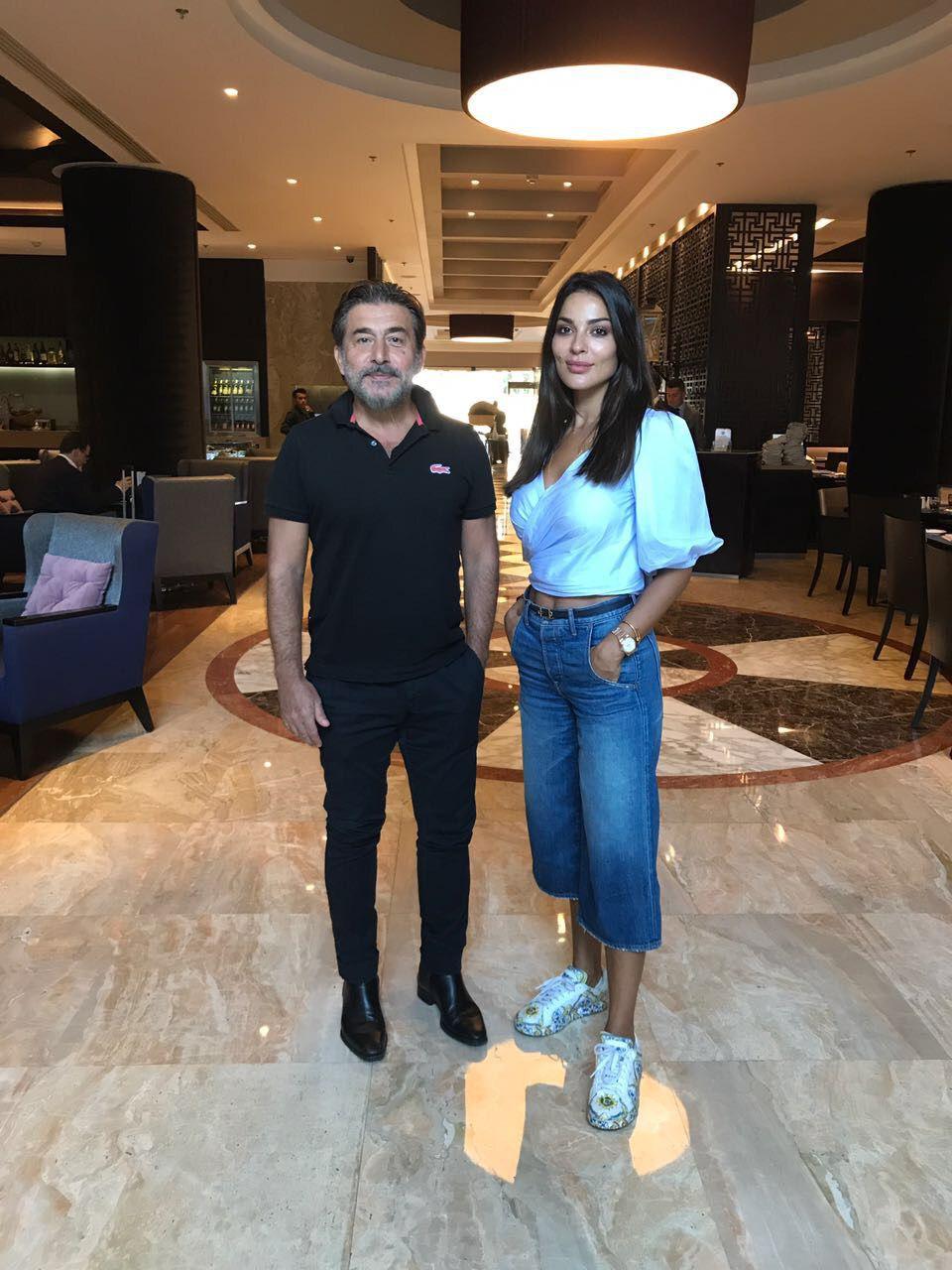 النجم السوري عابد فهد والنجمة اللبنانية نادين نجيم