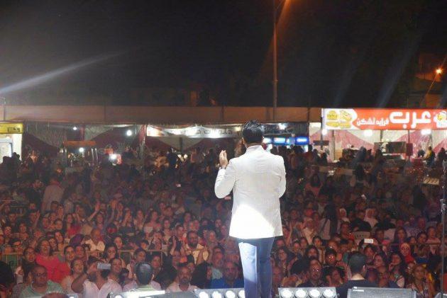 همام إبراهيم وأمامه الجمهور