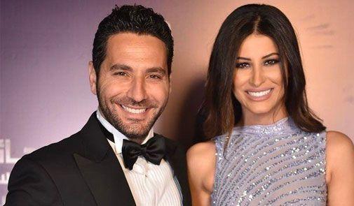 الإعلامي اللبناني وسام بريدي وزوجته التونسية ريم السعيدي
