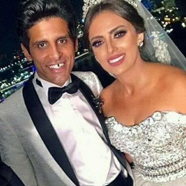 الفنانةالمصرية إسراء عبد الفتاح وحمدي الميرغني بأجمل صورة في زفافهما