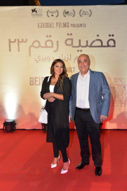 الممثل اللبناني نعيم حلاوي وزوجته