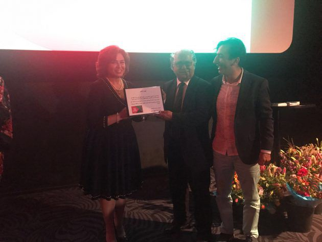 إلهام شاهين تتسلم جائزة تكريمية عن مشوارها الفني في مهرجان (الفيلم العربي) في روتردام - هولندا