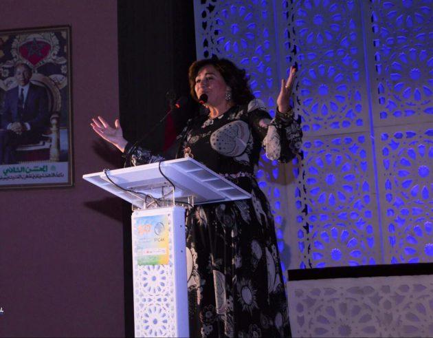 إلهام شاهين مهرجان السينما الأفريقية بخريبكة في دولة المغرب