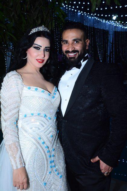 سمية الخشاب وأحمد سعد في حفل زفافهما