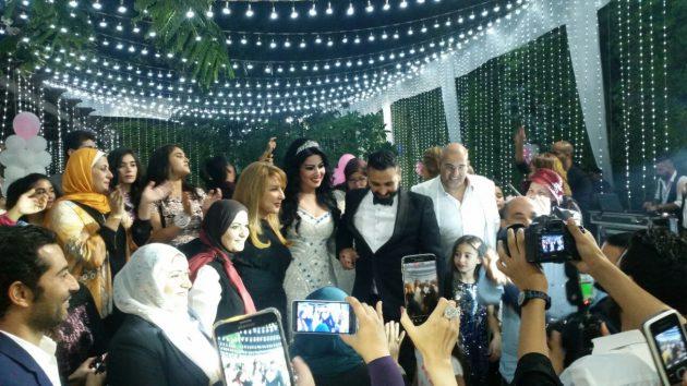 سمية الخشاب وأحمد سعد يحتفلان بزفافهما