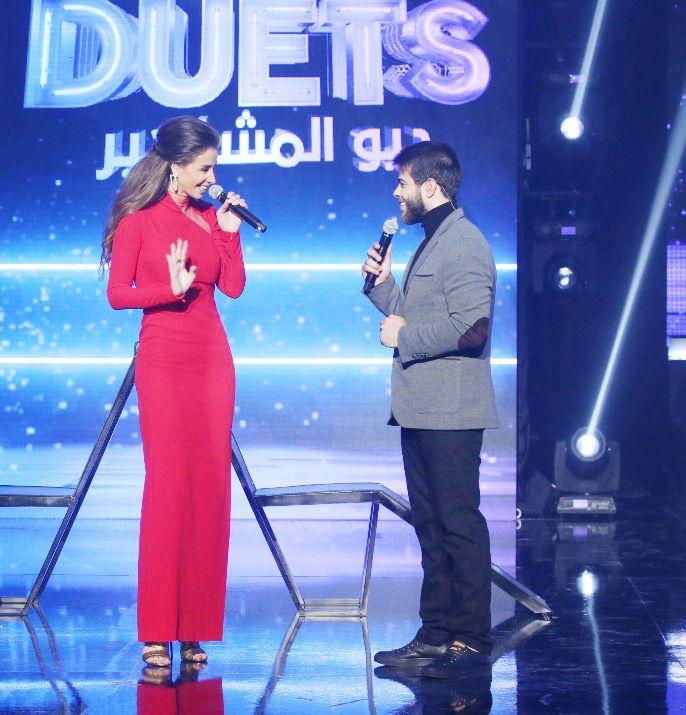 النجم الأردني الفلسطيني أدهم النابسلي وأنابيلا هلال