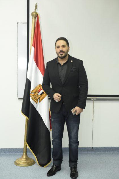 النجم اللبناني رامي عياش مع علم مصر