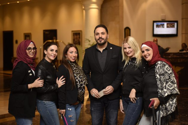 رامي عياش في الفندق قبل التوجه للحفل