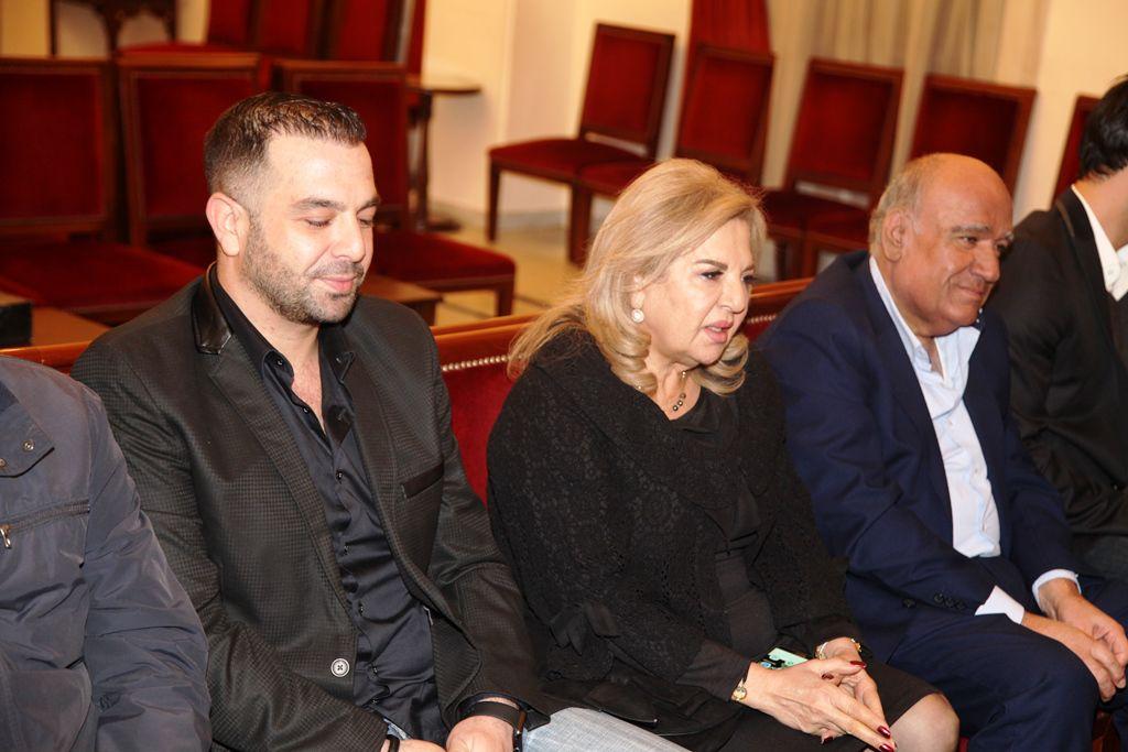 رندة بركات زوجة الموسيقار اللبناني الراحل ملحم بركات وابنه وعد بركات