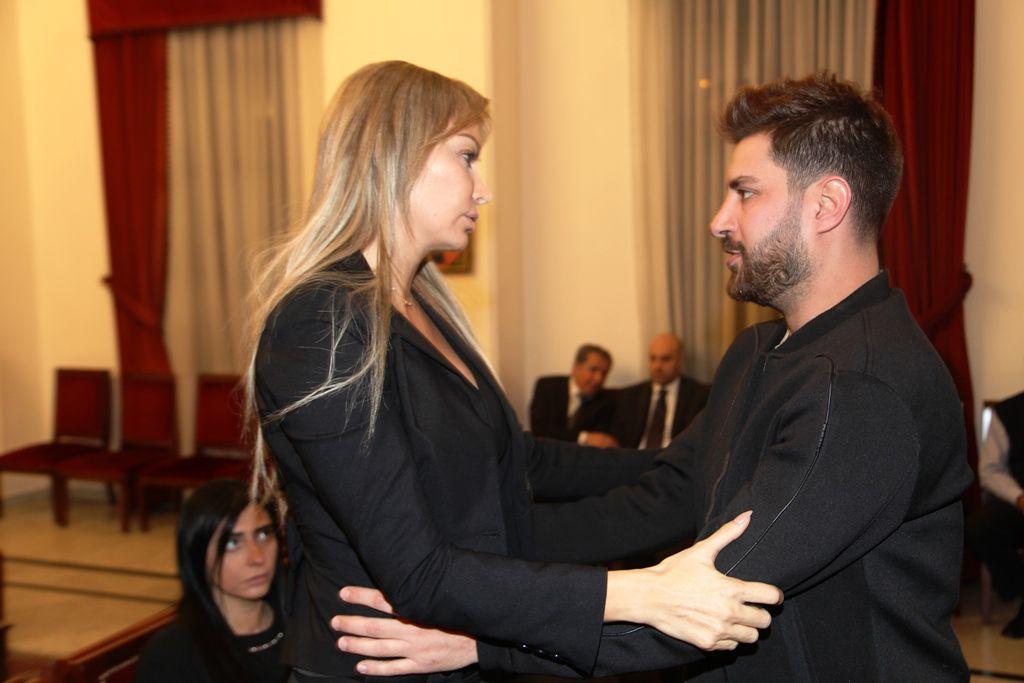 كريستينا صوايا والاعلامي سيرج أسمر