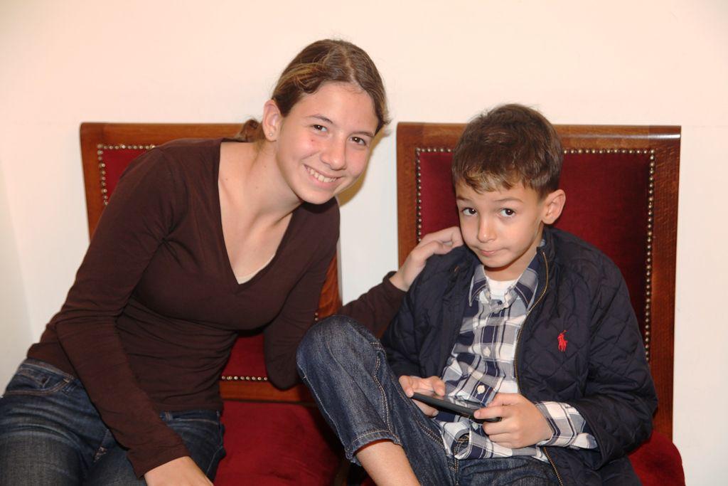 ديا ماريا وانجلو ابنا طوني بارود وكريستينا صوايا
