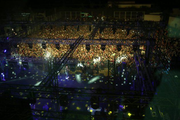 لقطة للجمهور الضخم
