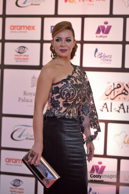 الفنانة السورية سوزان نجم الدين في حفل توزيع جوائز جريدة الأهرام