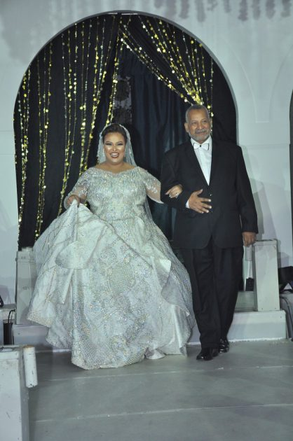 دينا محسن برفقة والدها