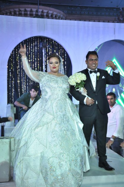 دينا محسن وعريسها
