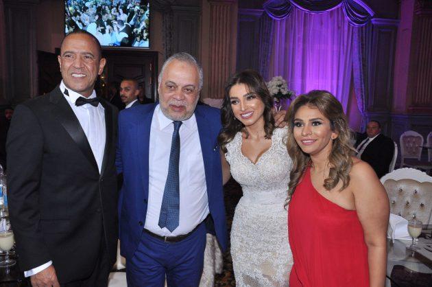 روجينا وزوجها أشرف زكي برفقة أشرف عبد الباقي