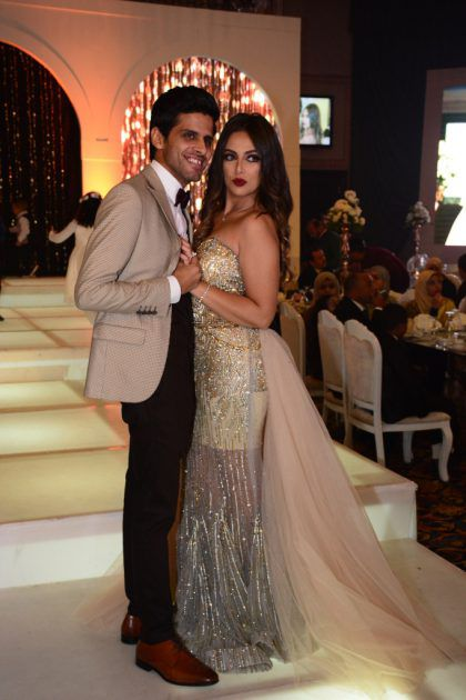 حمدي الميرغني وزوجته إسراء عبد الفتاح