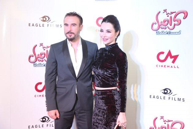 النجم اللبناني باسم مغنية وزوجته شيين مانيسا