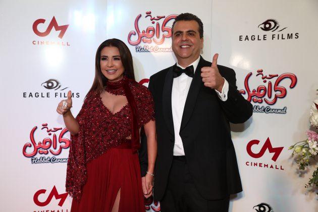 المنتج العربي جمال سنان وزوجته النجمة ماغي بو غصن