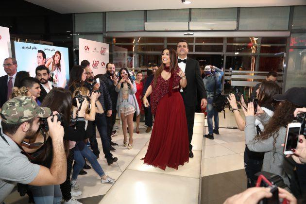 لحظة وصول ماغي بو غصن إلى الفيلم وبدأت بالرقص