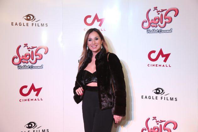 كارين رزق الله حضرت الفيلم لوحدها ومن دون زوجها فادي شربل