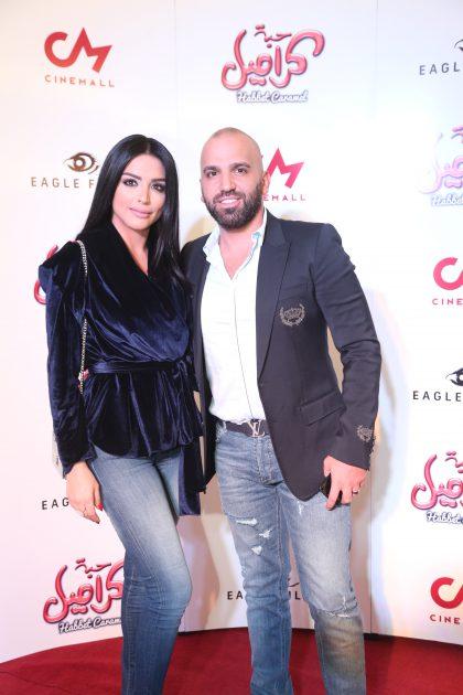 الفنان اللبناني ناجي الأسطا وزوجته