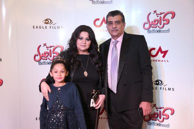 الكاتبان السوريان نور شاشكلي مازن طه وابنتهما
