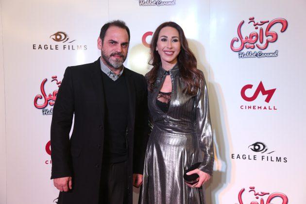 النجمة اللبنانية ورد الخال وزوجها باسم رزق