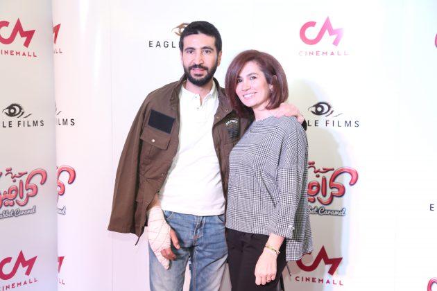 الممقل اللبناني وسام صباغ وزوجته