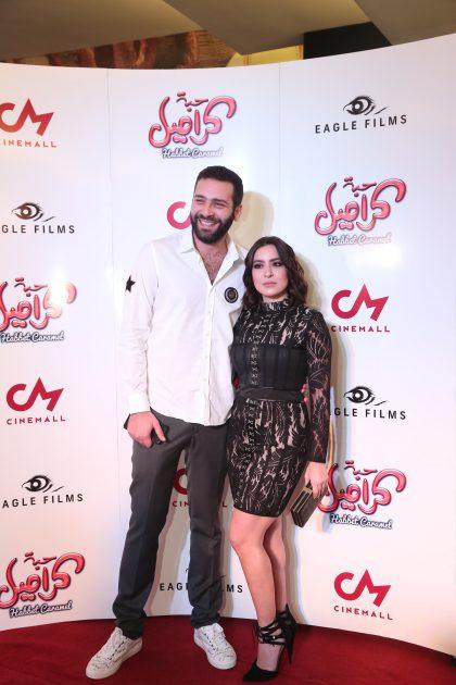 الممثلان اللبنانيان وسام صليبا وسارة أبي كنعان