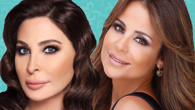 النجمتان اللبنانيتان إليسا وكارول سماحة