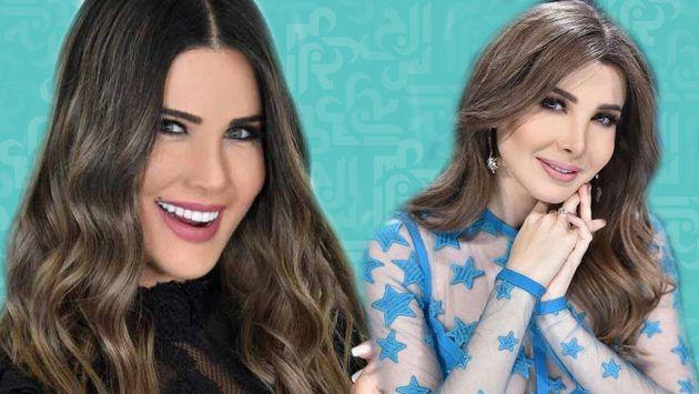 النجمة اللبنانية نانسي عجرم والإعلامية اللبنانية منى أبو حمزة