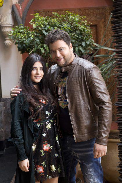النجم اللبناني عامر زيان وشقيقته الممثلة اللبنانية لارا خوري
