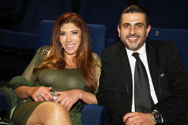 الممثلة انطوانبيت عقيقي وزوجها